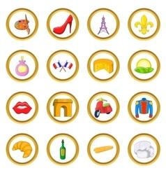 France set cartoon style vector image vector image
