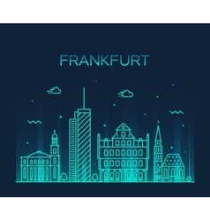 Frankfurt skyline linear style vector