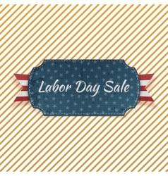 Labor day sale festive paper emblem vector