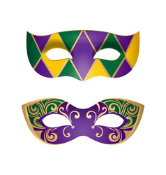 mardi gras masks vector image vector image