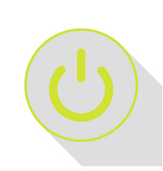 On off switch sign pear icon with flat style vector