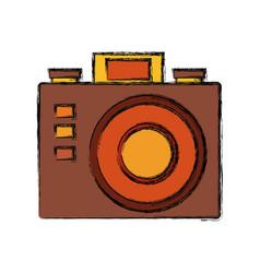 Photographic camera symbol vector