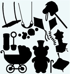 Set of childrens subjects vector