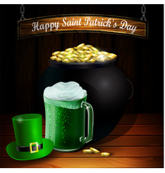 St patrick s day greeting card vector
