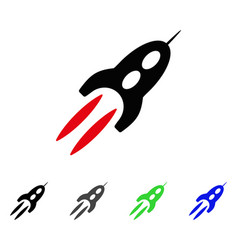 starship flat icon vector image vector image
