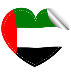 Sticker design for arab emirates flag vector