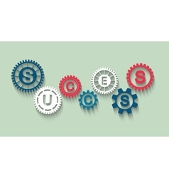 Success concept with gears vector