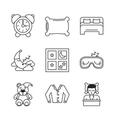 Sweet sleep icons vector