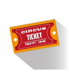 Ticket of carnival design vector