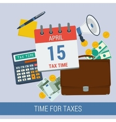 Time for taxes vector