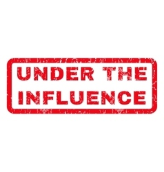 Under the influence rubber stamp vector