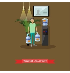Water delivery service concept vector