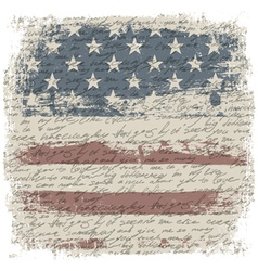 Vintage usa background isolate borders vector