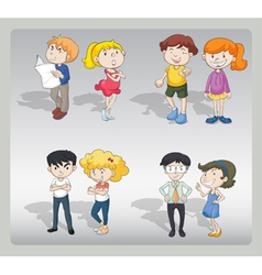 Various characters vector image