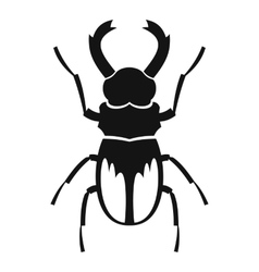 Rhinoceros beetle icon simple style vector