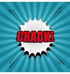 Comic crack template vector