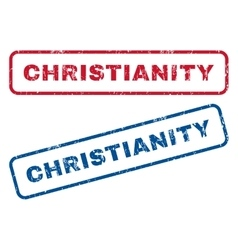 Christianity rubber stamps vector