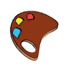 Paint palette cartoon vector