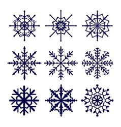 Set of snowflakes icons vector