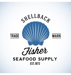 Shellback fisher seafood supply abstract vector