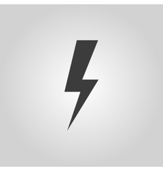 The lightning icon power symbol flat vector