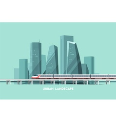 Urban landscape cityscape background vector