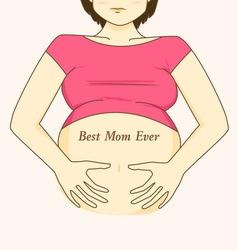 mom08 vector image