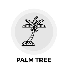 Palm tree line icon vector