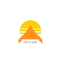 Event tent logo concept vector image
