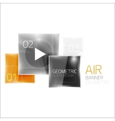 Air glossy square composition vector