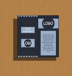 Abstract layout background set for art template vector