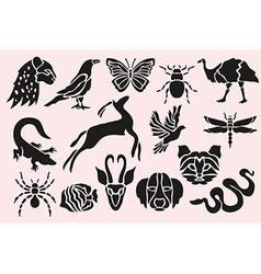 Animal symbols set vector