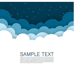Background cloud cover night sky background vector