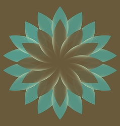 Beautiful lotus flower color wheel mandala vector