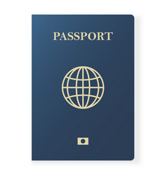 Blue passport isolated on white international vector