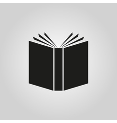 Book icon design Library symbol web vector image