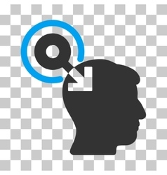 Brain interface plug-in icon vector