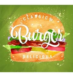 Burger green vector image vector image