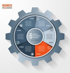 business and industry gear style circle infographi vector image