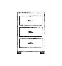 Cabinet document file folder office sketch vector