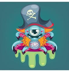 Cartoon pirate virus vector