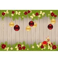christmas pine frame 1611 01 vector image vector image