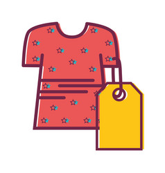 clothes with tag to shopping new style vector image