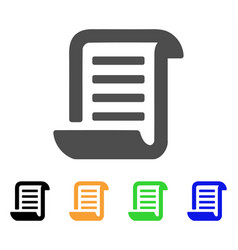 Conclusion roll document flat icon vector