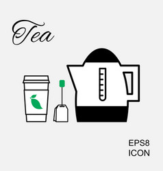 cup of hot tea icon vector image