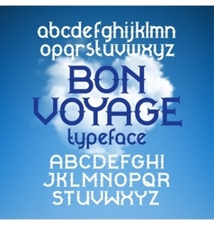 Custom retro typeface bon voyage vector