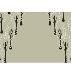 Decorative tree background vector image vector image