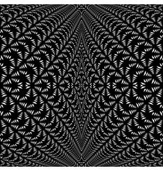Design symmetric lacy diagonal warped pattern vector
