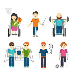 Disabled sports handicapped vector