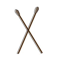 Drumsticks icon image vector